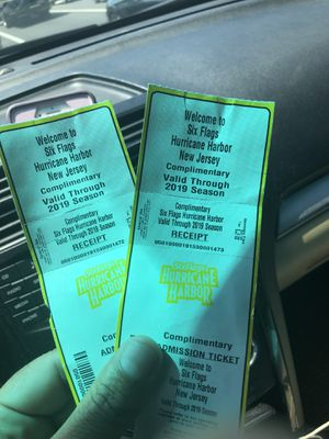 2 water park tickets for Sale in Manasquan, NJ
