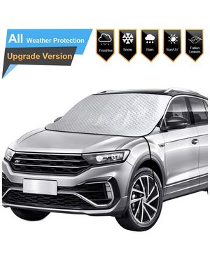 New Car Windshield Snow Ice Cover for Winter, Thicker Snow Protection Cover (Black/White) for Sale in Richmond, VA