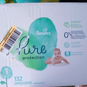 Pampers Pure Size 1 132 Diapers for Sale in Compton, CA