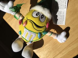 M&M's Yellow Peanut w/ Christmas hat and Lights Christmas Plush Stuffed Toy Collectible ($15) for Sale in Peoria, AZ