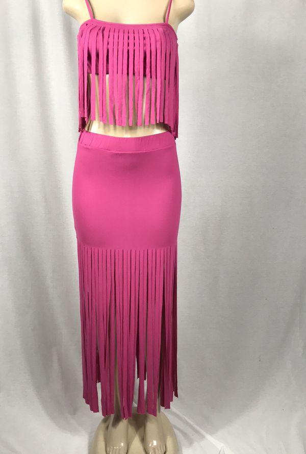 UO Fringe Skirt Set