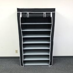 """$25 New In Box Shoe Rack Organizer 10 Tiers Storage Closet With Fabric Cover 36x12x62"""" for Sale in Whittier,  CA"""