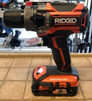 Ridgid Brushless Hammer Drill w/ 2 Batteries & Charger in Case (PRESTO PAWN) for Sale in Palm Springs, FL