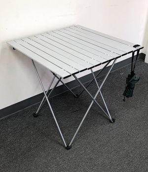 """$30 NEW Aluminum Roll Up Table Folding Camping Outdoor Indoor Picnic w/ Bag 27""""x26""""x27"""" for Sale in Montebello, CA"""