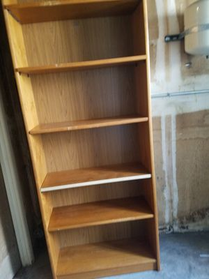 Solid wood bookshelves 7ftx 3ft for Sale in Denver, CO