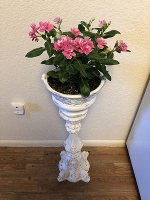 Gorgeous fancy white planter pot vase for Sale in Mesa, AZ