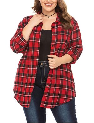 Womens Plus Size Flannel Plaid Shirt - Brand New for Sale in Hudson, FL
