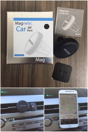New in box MagOn magnetic car air vent quick release quick rotation mobile cellular smart phone holder for Sale in Santa Fe Springs, CA