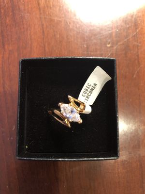 Classic Engagement Ring 14K Gold HGE Cubic Zirconia Size 6 for Sale in Feasterville-Trevose, PA