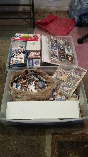 Tube is full of baseball basketball hockey cards football for Sale in Pine Hills, FL