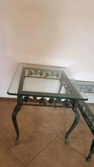 green metal glass coffee end tables by Lane for Sale in Tempe, AZ