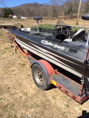 Nice fishing boat web trailer 125 Merc motor brand new lower unit for Sale in Hartsville, TN