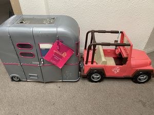 Our generation doll trailer and Jeep for Sale in Chula Vista, CA