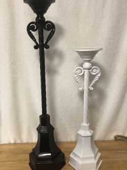 Pair of TALL Heavy Metal Candlesticks. $15 for the Pair. Excellent Condition. for Sale in Fort Worth,  TX