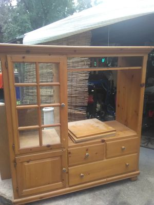 Heavy STURDY wood stand for Sale in Tampa, FL
