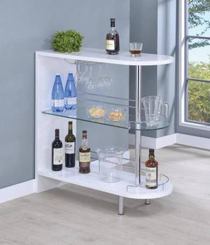 Entertaining Bar Unit Glossy White $199- SALE! Best Deal! for Sale in Sacramento, CA