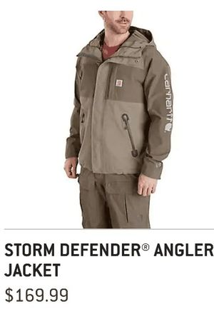 Brand New Storm Deffender Carhart Angler Jacket for Sale in Auburn, WA