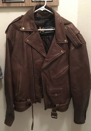 X element - advanced motorcycle gear- brown leather jacket- 3XL for Sale in Arlington, TX