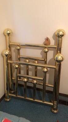 Vintage Brass Head/Footboard for Sale in Livonia, MI