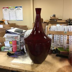 Red Wood Vase for Sale in Walled Lake,  MI