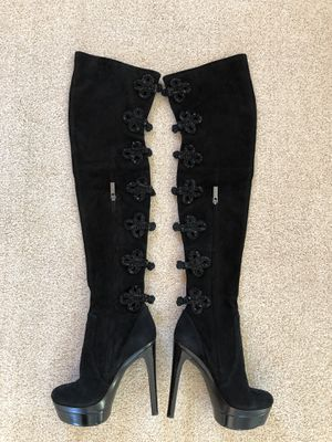 Stunning (rare) Private release Rachel Zoe Black thigh high (over the knee) Suede boot for Sale in Thornton, CO