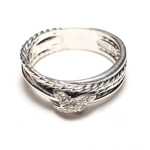 DAVID YURMAN Diamond X Crossover Sterling Silver Cable Ring for Sale in Winston-Salem, NC