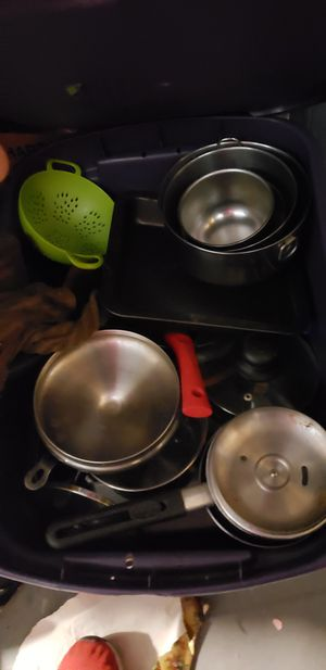 Large lot of pans and glassware for Sale in Providence, RI