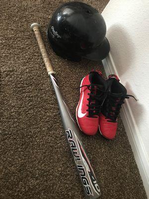 Baseball gear Mike Trout cleats, helmet, bat for Sale in Hesperia, CA