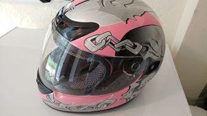 Motorcycle Helmet - Women's Pink Skull (L) for Sale in Orlando, FL