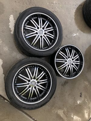 3 wheels 5x114.3 with extras tires for Sale in West Valley City, UT