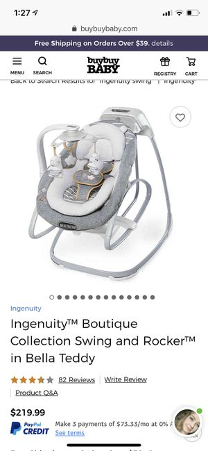 Ingenuity Boutique Swing and Rocker for Sale in Round Rock, TX