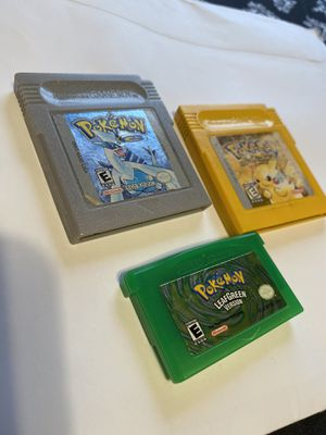 Pokemon Leafgreen, Yellow and Silver for Sale in Washington, DC