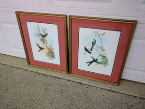 Birds art work set of 2 for Sale in Norcross, GA