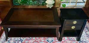 """Coffee table 48"""" x 19"""" high x 28"""" The end tables (only one shown) are19"""" x 16"""" x 26"""" high for Sale in Marysville, WA"""