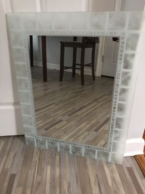 DECORATIVE FROSTED GLASS MIRROR for Sale in Parma Heights, OH