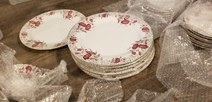 Imperial Japanese style china plates dishes pink rose. Condition never used! for Sale in Germantown, MD