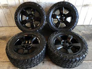 "20"" Chevy Tahoe Suburban Silverado FACTORY BLACK Wheels Rims Nitto Trail Grappler Tires for Sale in Santa Ana, CA"