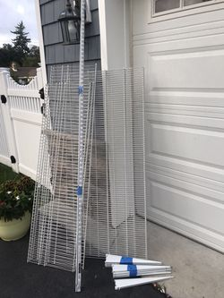 """ClosetMaid white wire shelves, vertical rails, shelf support brackets. I also have (3) 20"""" x 58 shelves. for Sale in Red Bank,  NJ"""