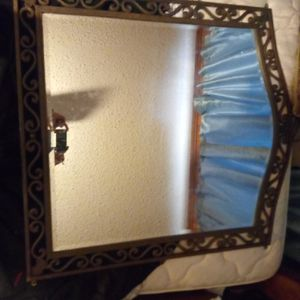 Large mirror small antique brass mirror for Sale in North Little Rock, AR