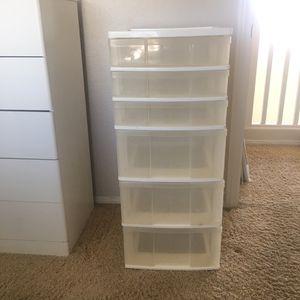 White plastic drawer organizer for Sale in Las Vegas, NV