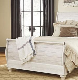 🥀🥀Willowton Whitewash Queen 🍓🍓Sleigh bed B267🥀🥀 for Sale in Silver Spring, MD