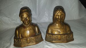 Dante and Beatrice bronze bookends for Sale in Tucson, AZ