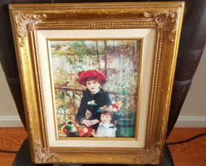 Renoir painting reproduction with good frame, used normal wear. for Sale in Chelmsford, MA