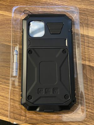 Aluminium Metal Waterproof Case Built-in Screen Shockproof Dustproof Full Body Protector Case Heavy Duty Cover with Kickstand for iPhone 11 for Sale in Vista, CA
