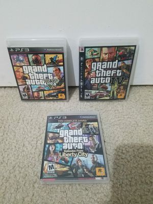 PS3 - 3 Grand Theft Auto Games - $25 for all 3 for Sale in San Diego, CA