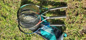 2 prince, 1 head tennis rackets, really good rackets. New grips on each one. Plus a 3 rackets bag for Sale in Fort Lauderdale, FL