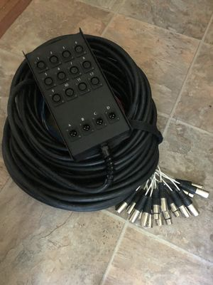 100' 12/4 channel Microphone Instrument Cable for Sale in NATURL BR STA, VA
