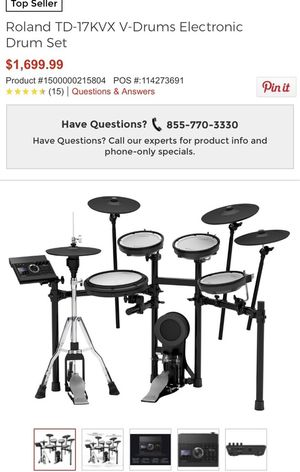 Roland TD-17KVX Electronic Drumset + DW 5000 Double Bass Pedal for Sale in Smyrna, TN