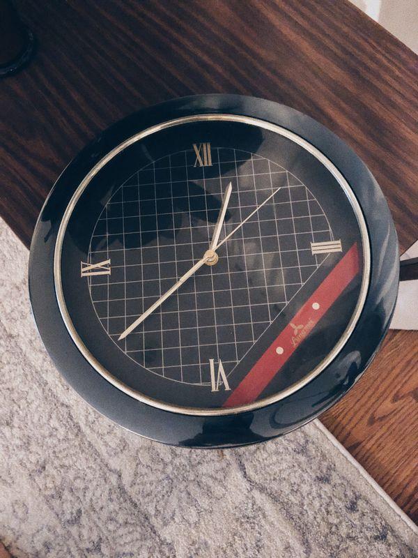 Retro Art Deco Wall Clock