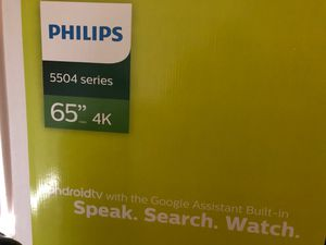 Brand New Unopened Philips 65 inch 5504 android tv for Sale in Wheeling, IL